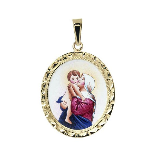 367R Madonna with Child Medal