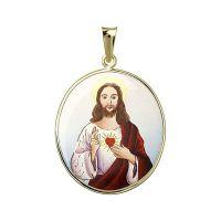 Heiligstes Herz Jesu Email Malerei Medaillon