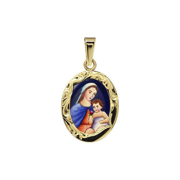 190R Madonna with Child Medal