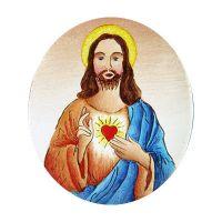 Halbfabrikat 399 Heiligstes Herz Jesu blau