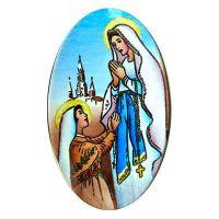 Halbfabrikat 527 Unsere Liebe Frau von Lourdes für größte Anhänger