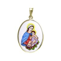 Heilige Jungfrau und Kind weiter Schmuckanhänger