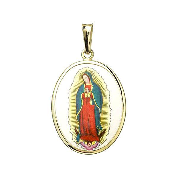 Unsere Liebe Frau von Guadalupe weiter Anhänger Gold Aljančič