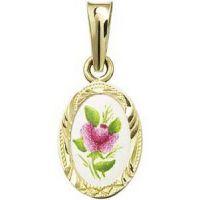 Violette Rose Anhänger Miniatur